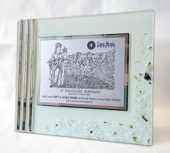 Targa in vetro di Murano